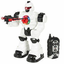 Walking Remote Control RC Shooting Robot Police Toy Lights and Sound Effect