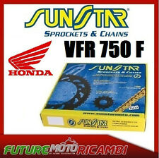 KIT CATENA CORONA PIGNONE PLUS SUNSTAR HONDA VFR 750 F 90 91 92 93 94 95 96 97