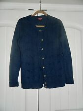 Women's Merona navy blue button up cardigan size L