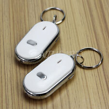 2X LED Luz Antorcha Key Finder Llavero Anti-Perdidos Control de Sonido Silbar