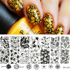 BORN PRETTY Tulip Pattern Nail Art Stamp Template Image Plate BP-L029