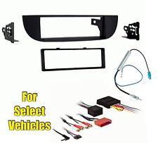 Black Car Stereo Radio Install Dash Trim Mount Face Kit Combo for 12-15 Fiat 500