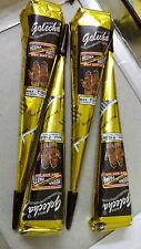 4X HERBAL BLACK COLOR HENNA CONES Temporary Tattoo kit Body Art Mehandi ink