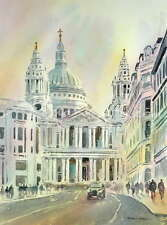 "NEW ALAN REED ORIGINAL ""St Paul's Cathedral London"" City Cathedral PAINTING"