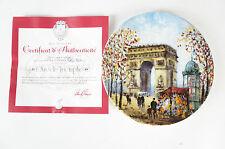 """Porcelaine de Limoges France """"L´Arc de Triomphe"""" Louis Dali NEU 55"""