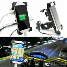 New RAM Motorcycle Bike Car Mount Cellphone Holder USB Charger For Phone TR
