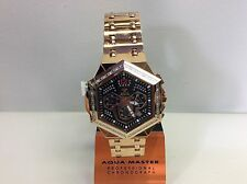 Men Aqua Master Jojo Jojino Joe Rodeo Rose Metal Band 48mm Diamond Watch W#356-6
