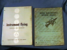 AIR FORCE MANUAL INSTRUMENT FLYING & BASIC ELECTRONICS REVIEW DIGEST NAVAL AIR