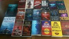 Dean Koontz 20 Lot Books INTENSITY The Vision THE HUSBAND Tick Tock COLD FIRE +