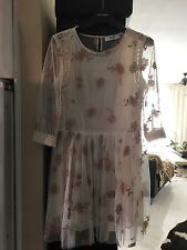 BLUMARINE BLUGIRL Embroidered Lace Dress with Full Skirt  IT 42 UK 10 BNWT