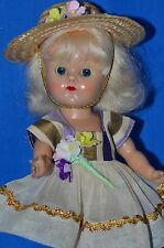 """Vintage 8"""" Vouge Ginny Doll in Tagged Dress and Tagged Coat SLW PL"""