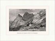 Tannheimer Hütte auf der Gimpelalpe mit Roter Flüh Alpinismus A4 0076