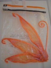 New Girls 1 Pair Orange Glitter Butterfly Fairy Wings Costume Play