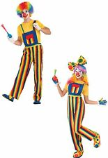 Stripes the Funny Clown Costume One Size Adult Unisex Halloween