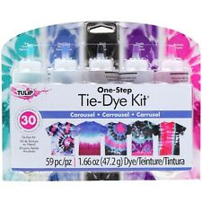 Carousel Tie Dye Craft and Activity Kit Tulip NEW tye die purple blue teal black