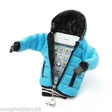 """Custodia Azzurra """" Bomber """" per iPhone iPhone 5 5C 5S 4S 4 3G 3GS Cover Case"""
