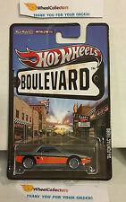 '84 Pontiac Fiero Grey/Orange * Hot Wheels Boulevard Series w/ Real Riders * A1