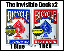 Magic Trick The Invisible Deck Dynamo, David Blaine Bicycle Deck Bundle New