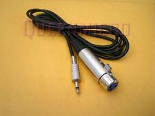 "6Ft XLR 3-Pin Female to 3.5mm 1/8"" Mono Plug Mic Microphone Audio Sound Cable 6'"