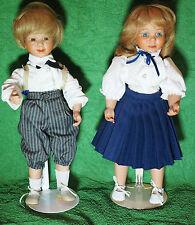 2 Puppen Mädchen und Junge -Kinder der Welt-  c a 35cm