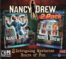 Nancy Drew ALIBI IN ASHES +  THE DEADLY DEVICE PC Game 2 PACK NEW