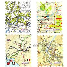 11 Sheets Nail Art Water Decals Transfer Stickers Unique Road Map Design Tips