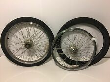 "Pair of 20"" BMX Bicycle Wheels & Tires Diamondback Rims Cheng Shin Tires 278"