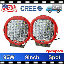 CREE 9INCH 2X 96W LED WORK LIGHT BAR SPOT BEAM UTE OFFROAD DRIVING RED LAMP PRTY