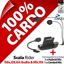 Cardo Scala Rider Audio & Mic Accessory Kit G9x G9 G4 Motorcycle Helmet Intercom