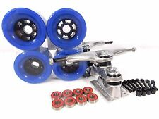 "Gullwing Sidewinder II 10"" Longboard Trucks + Blank 83mm Blue Wheels"