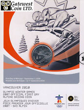 2007 Official First Day 25-Cent Alpine Skiing Coin (12086)