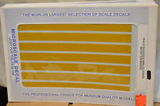 HO Scale Microscale Decals Stripes Parallel  Dulux Gold  8 1/2 Trains RR