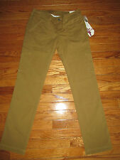 New ISIS Size 2 Canvas Brown 8 Days A Week Active Rugged Pants