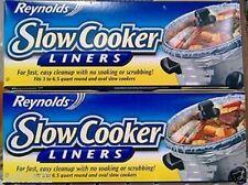 REYNOLDS SLOW COOKER CROCK POT LINERS ~ 2 PACK ~ EASY CLEAN UP Clear