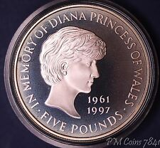 1999 Diana memorial silver proof £5 coin in presentation box, nice coin  [7841]
