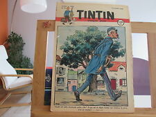 JOURNAL DE TINTIN N°33 3EME ANNEE BE/TBE 1948 2 TROUS