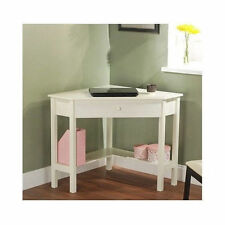 SMALL CORNER COMPUTER DESK Home Office Furniture Student WOOD Table WRITING Work