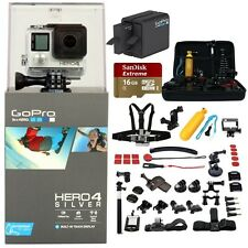 GoPro HERO4 Silver CHDHY-401+ 2 GoPro Batteries & Charger + 16GB +45pcs All in 1