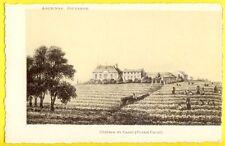 CPA Rare LITHO GRAVURE Ancienne GUYENNE CHÂTEAU de CANET Domaine Viticole PONTET