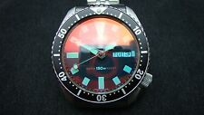 Vintage Seiko divers 6309 CLASSIC BLACK DIAL BB FLAME RED SAPPHIRE CRYSTAL K54
