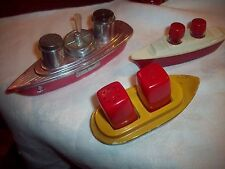 Vintage Lot Salt & Pepper Shakers BOATS ship Figural sugar salt & Pepper