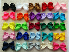 "25 PCS 4"" Baby Girl Toddlers Boutique Hair Bows Clips Grosgrain Ribbon Flower O"