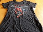 "NWT! MARVEL HEROES ""SPIDER-MAN"" LADIES S/S BLACK T-SHIRT SIZE M"