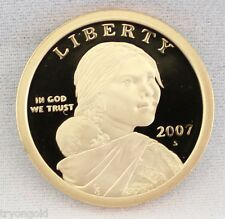 2007 S Proof Deep Cameo (DCAM) Native American Sacagawea Golden $1 Dollar