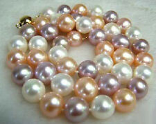 8-9mm Natural Multicolor Akoya Cultured Pearl Necklace 18''