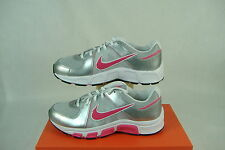 """New 6 Y Youth NIKE """"T Run 5 GS/PS"""" Gray Pink White Womens 7.5 Running Shoes $48"""
