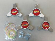 1957 1958 CHEVROLET CHEVY IMPALA BELAIR WHEEL ACCESSORY CHROME HUBCAPS SPINNERS