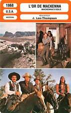 FICHE CINEMA : L' OR DES MACKENNA - Peck,Sharif 1969 Mackenna's Gold