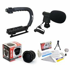 Opteka VM-8 Mini-Shotgun Microphone w/ Extreme .20x Super Fisheye Kit for Canon