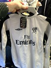 CHELSEA SHIRTS AWAY 2001/ GOALIES 28/30 INCH  BNWL AT £14SILVER/BLACK